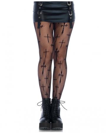 Cross-web pantyhose black