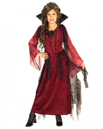 Gothic Vampire Lady Kids Costume Large