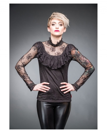 Gothic Shirt me Ruffles & Lace