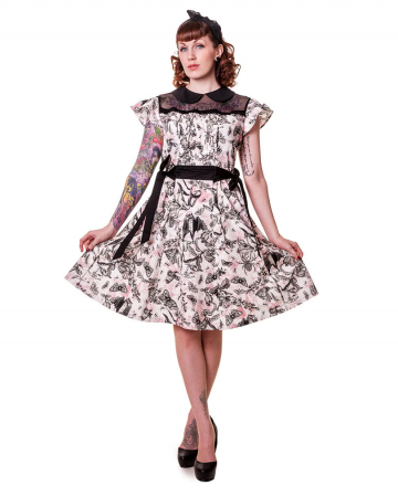 Petticoat Dress with Butterfly Print