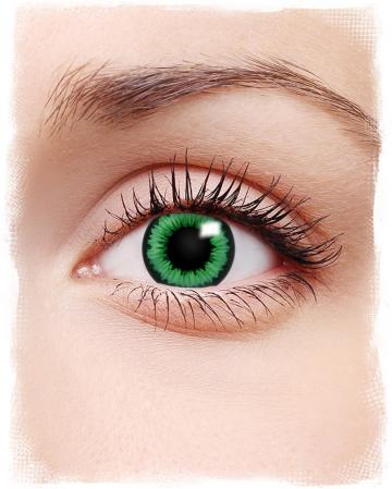 Green Flower Contact Lenses