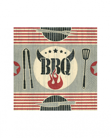 Barbecue Grill Party Napkins 20 Pieces