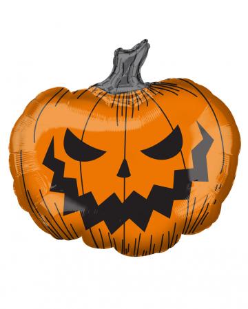 Grinning Pumpkin Foil Balloon
