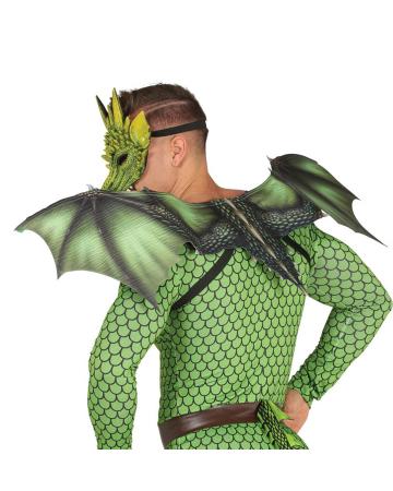 Grüne Drachenflügel als Kostümzubehör