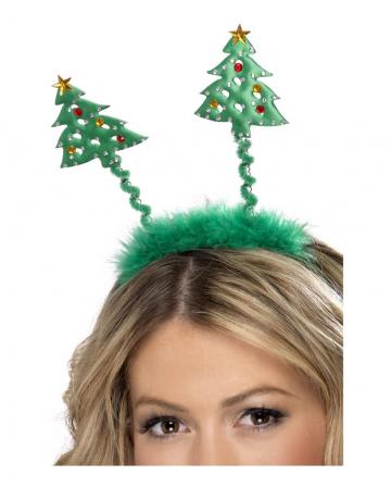 Green Headband with Tannenbäumchen