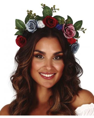 Haarreif mit Blumen & Blättern