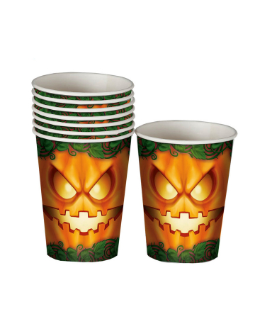 Halloween Pumpkin Party Cup 8 Pieces