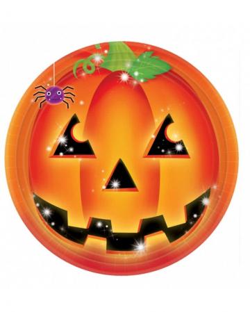 Halloween Pumpkin paper plates
