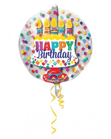 Happy Birthday Balloon In Balloon 60cm