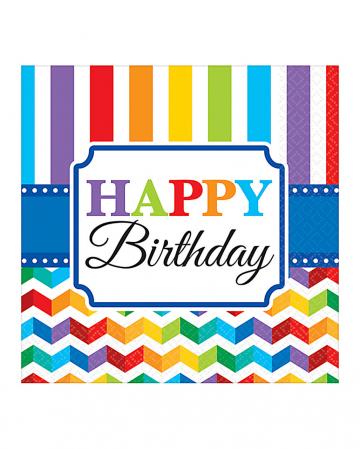 Happy Birthday Rainbow Napkins 16 pcs.