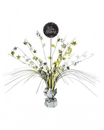 Happy Birthday Table Decoration Black / Gold