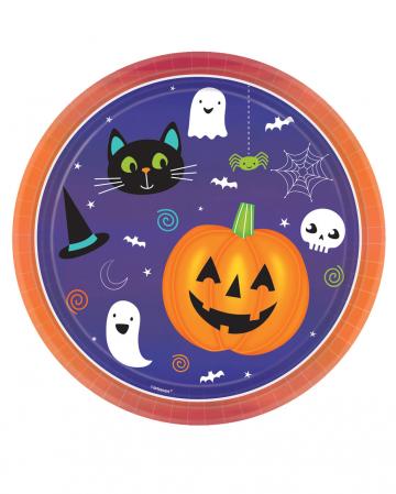 8 Happy Halloween Paper Plates