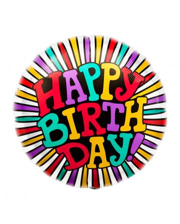 Folienballon Happy Birthday Rund