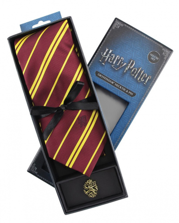 Harry Potter Gryffindor Tie With Pin