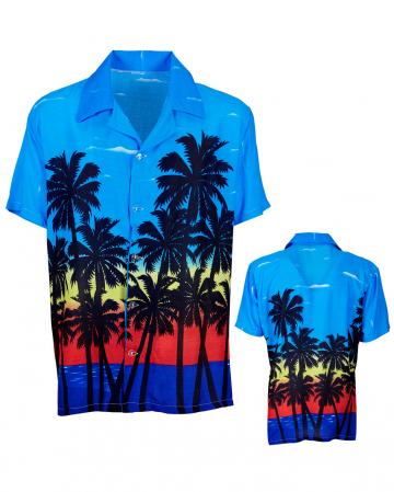 Hawaiihemd mit Palmen