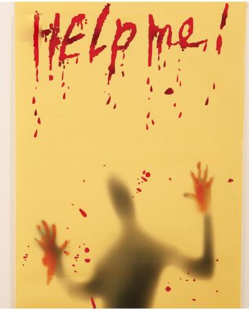 Help Me Halloween Dekofolie 120x63cm