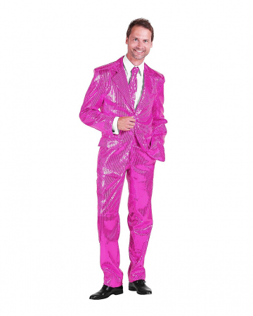 Men Suit With Sequins Pink