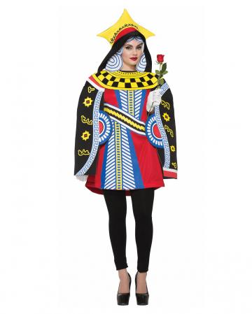 Herzkönigin Kartenspiel Kostüm