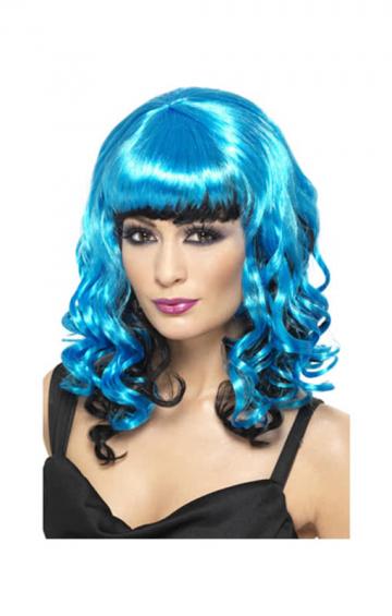 Cosplay Wig Fairy blue / black
