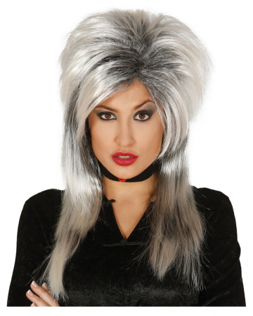 Witch Wig Grey-black