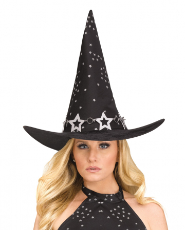 Heavenly Witch Hat With Star Print