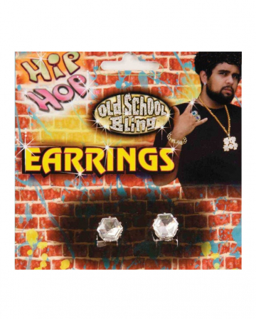 Hip Hop Rapper Diamond Earrings