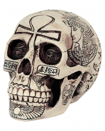 Egyptian hieroglyphs skull