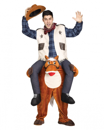 Riding Cowboy Costume Piggyback