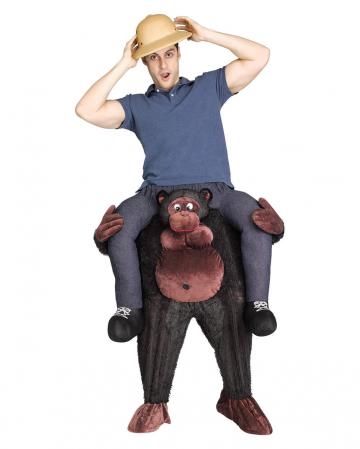 Riders on gorilla costume Piggyback