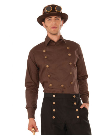 Steampunk shirt with buttons
