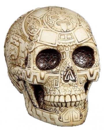 Totenkopf mit Azteken Muster