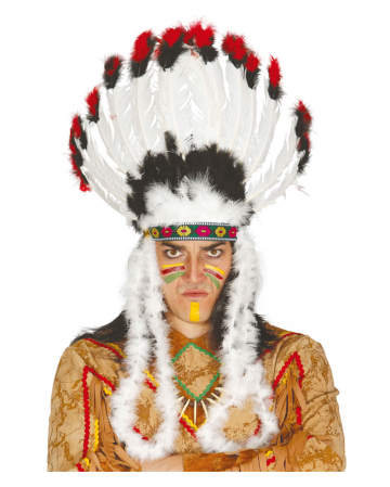 Indian chief feather headdress