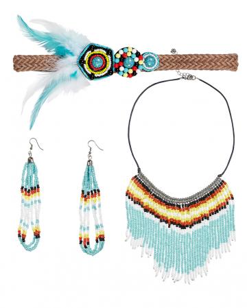 Indianerin Kostümschmuck 4-tlg.