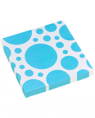 Caribbean Blue Dots Napkins 20 Pc.