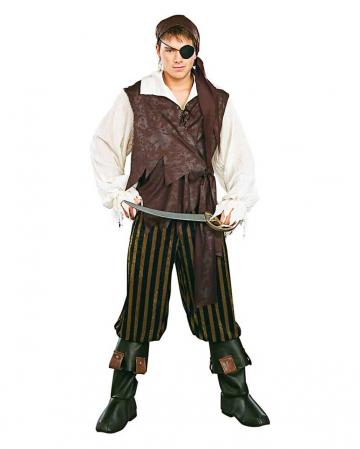 Karibik Piratenkostüm mit Stiefelstulpen