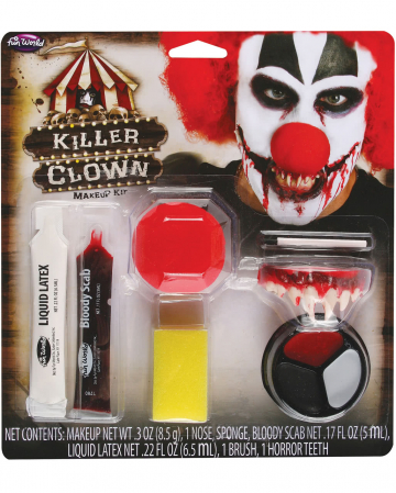 Horror Clown Make-up Kit 9-tlg.