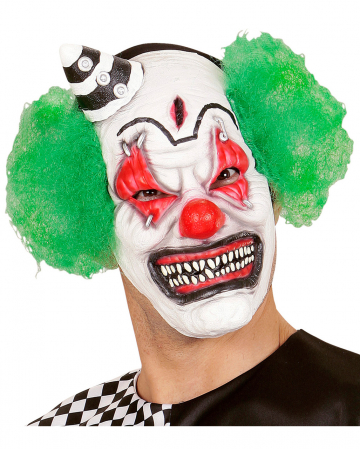 Horror Clown Mask With Mini Hat