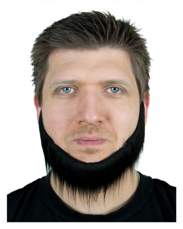 Black jaw chin-beard