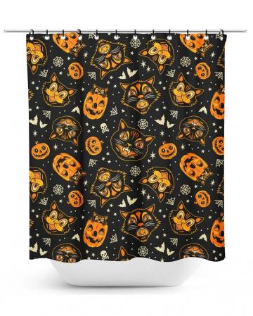 Klassischer Halloween Duschvorhang