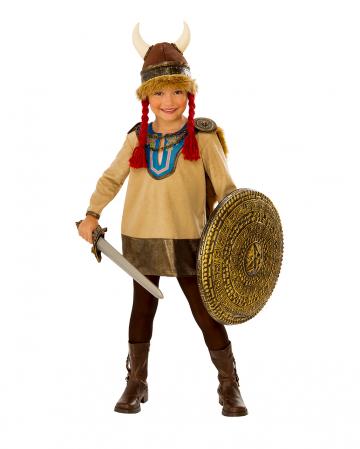 Little Viking Children Costume With Horn Helmet
