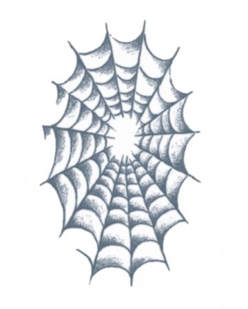 Knast Klebetattoo Spinnen Netz