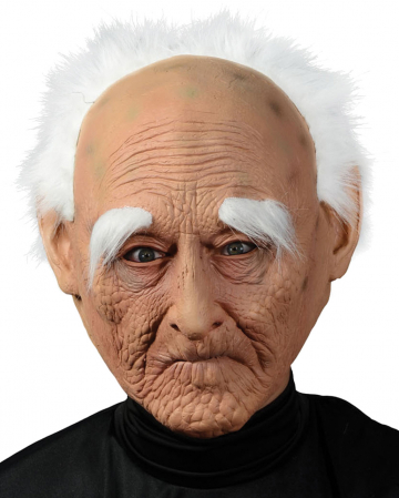 Knorrige Opa Maske mit Haaren
