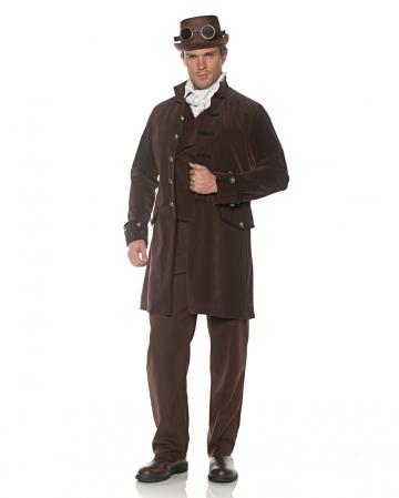 Costume frock coat brown velvet