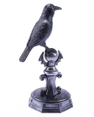 Krähe auf Statue mit Sound