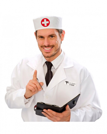 Paramedic Doctor Cap White-red