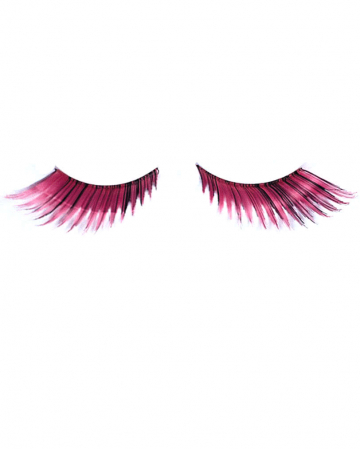 Cosplay eyelashes Pink Black