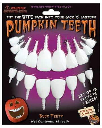 Kürbis Zähne