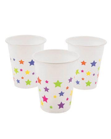25 Plastic Cup With Star Motif