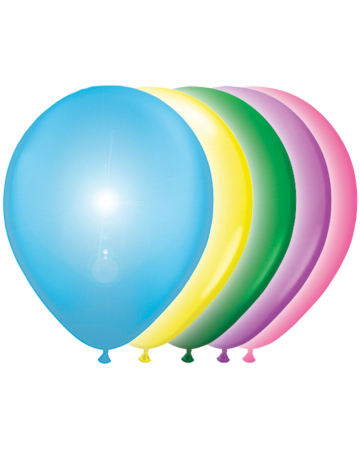 LED Balloons 5 Pcs. Colored