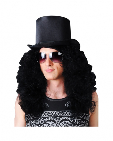 Curly Rocker Wig Black